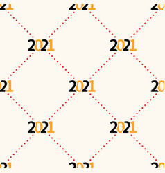 Happy new year 2021 seamless pattern with polka vector
