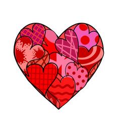 happy valentines day logo creative template vector image