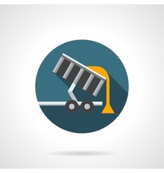 Harvest transportation flat color icon vector image