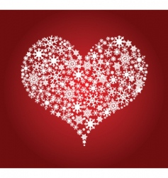 heart snowflakes vector image