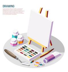 Hobby crafts isometric composition vector
