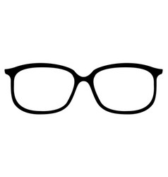 isolated glasses image vector image
