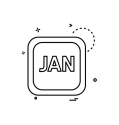 january calender icon design vector image