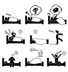 man people sleeping dreaming sex nightmare vector image