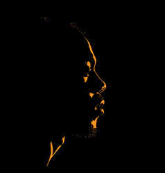 Man portrait silhouette in contrast backlight vector
