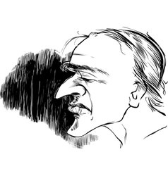 Man with large nose vector