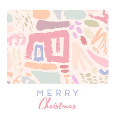 merry christmas greeting card with creative vector image