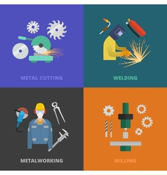 Metaworking concept template vector