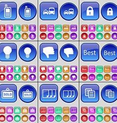 Mobile phone Transport Transport Lock Light bulb vector image