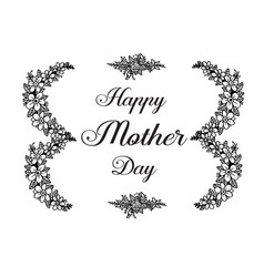 mother day greeting flower design vector image