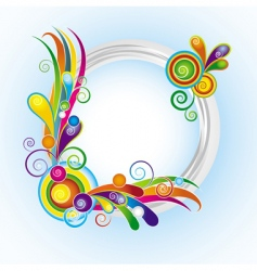 multicolor ring frame vector image