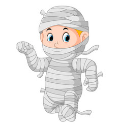 mummy walking vector image