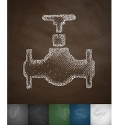 Oil valve icon vector