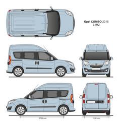 Opel combo 2016 l1h2 combi delivery van vector