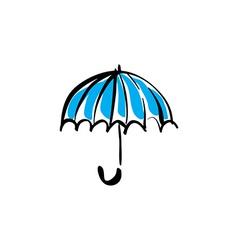 Open umbrella on white background vector