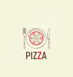 pizza template menu vector image