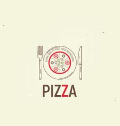 pizza template menu vector image