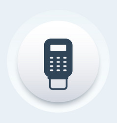 pos terminal payment icon vector image