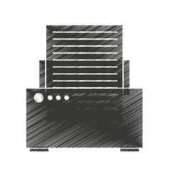 printer device isolated icon vector image