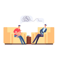 psychotherapy session vector image