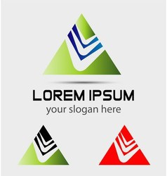 Pyramid icon triangles symbol vector