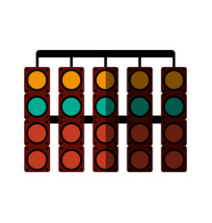 Racer traffic light flat shadow vector