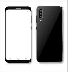 realistic smartphone with blank screen isolated vector image