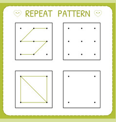 repeat pattern preschool worksheet for practicing vector image
