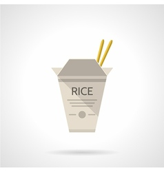 Rice box flat icon vector image vector image