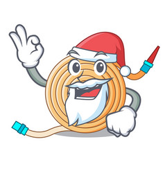 Santa the water hose mascot vector
