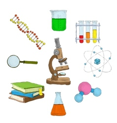 Science decorative elements vector image