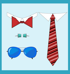 set of accessories vector image