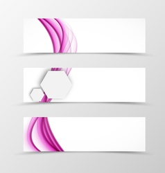 Set of header banner wave design vector