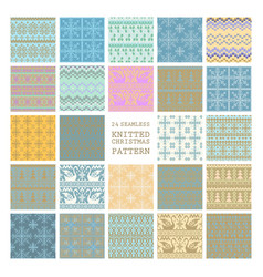 Set of winter seamless backgrounds vector