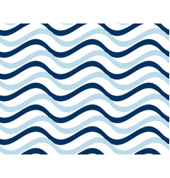simple seamless pattern with wave blue stripes vector image