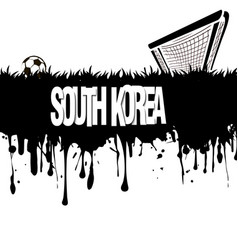South korea with a soccer ball and gate vector