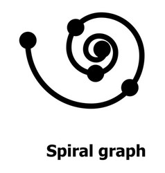 Spiral graph icon simple style vector