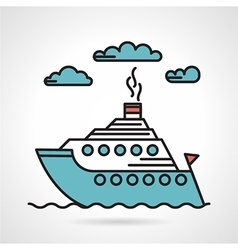 Steamer flat style icon vector