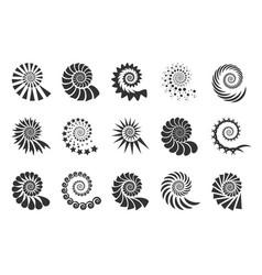Swirl design element spiral icon set twisting vector