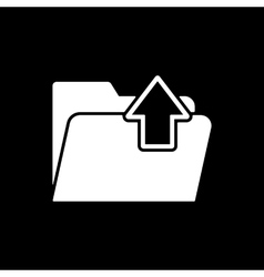 The folder icon Download symbol Flat vector image
