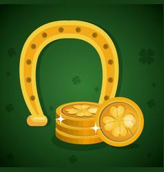 treasure coins saint patrick day vector image