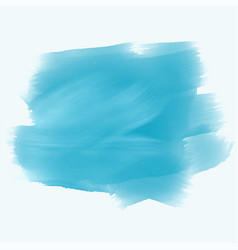 Turquoise watercolor brush stroke background vector