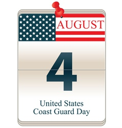 United States Coast Guard Day vector