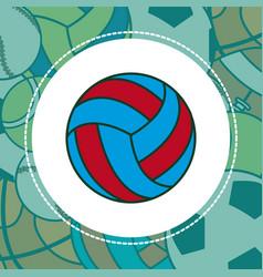 voleyball sport ball vector image