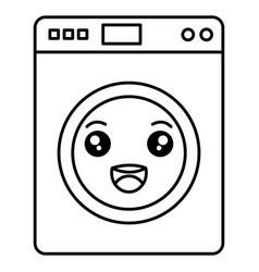 washer machine kawaii character vector image