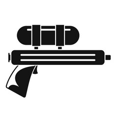 Water gun pistol icon simple style vector