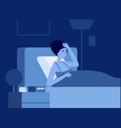 Women insomnia problem female difficulty sleep vector