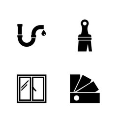 worker toolbox simple related icons vector image