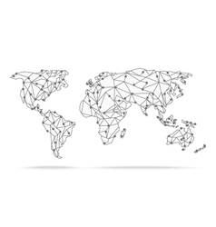 World Map polygonal precision low-poly vector