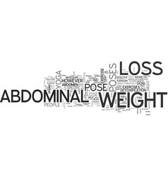 abdominal weight loss yoga can help you lose the vector image